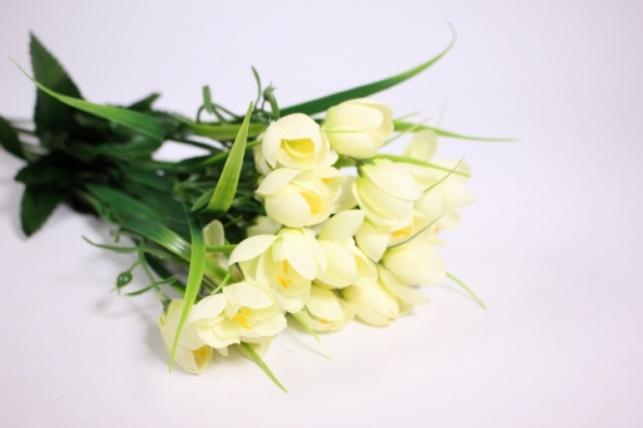 искусственные растения - ветка крокус шампань 30см (6шт в уп)  kwsj22в (код 8889)