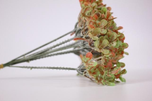 искусственные растения - ветка оранжево-зеленая (10шт в уп) (код 2357)
