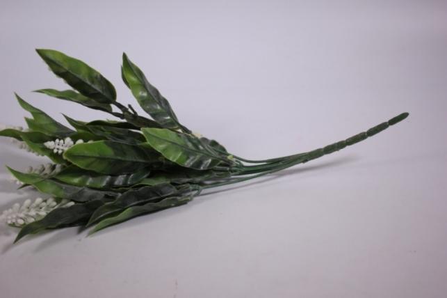 искусственные растения - ветка с белыми цветочками 30см  gab83 (код 4094)