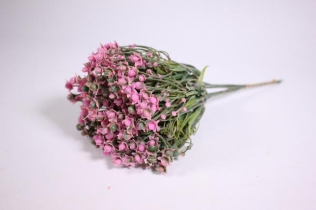 искусственные растения - ветка с розовыми ягодками 25см (6шт в уп) ga445 (код 1032)