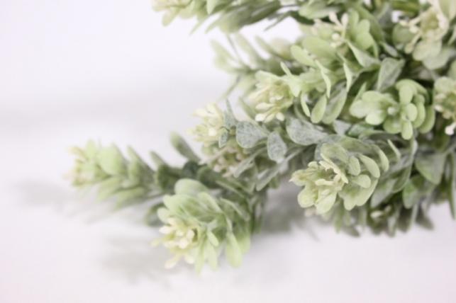 искусственные растения - ветка зелёная 35см (qeo1517)