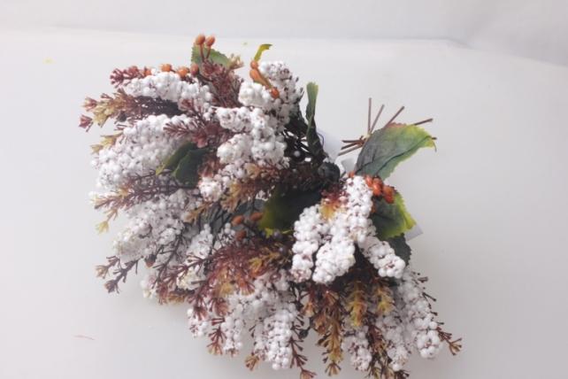 искусственные растения - ветки искусств. белый 25см (6шт в уп)  цена указана за 1шт.