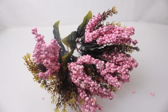 искусственные растения - ветки искусств. розовый 25см (6шт в уп)  цена указана за 1шт.