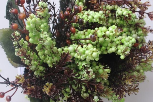 искусственные растения - ветки искусств. салатовый 25см (6шт в уп) цена указана за 1шт.