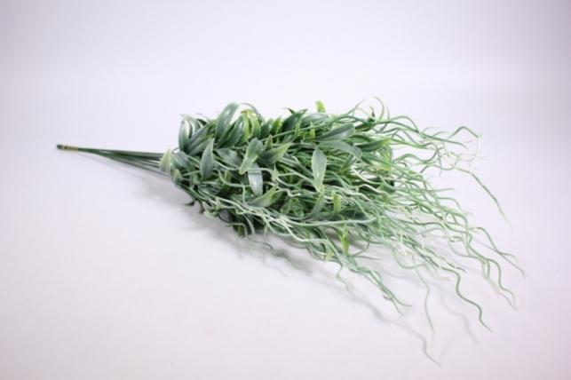 Искусственные растения - Веточка искусственная бело-зелено-салатовая 55см AVA54 (Код 9842)
