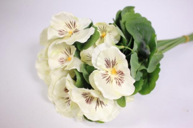 Искусственные растения - Виола  белая(12шт в уп) SUN417