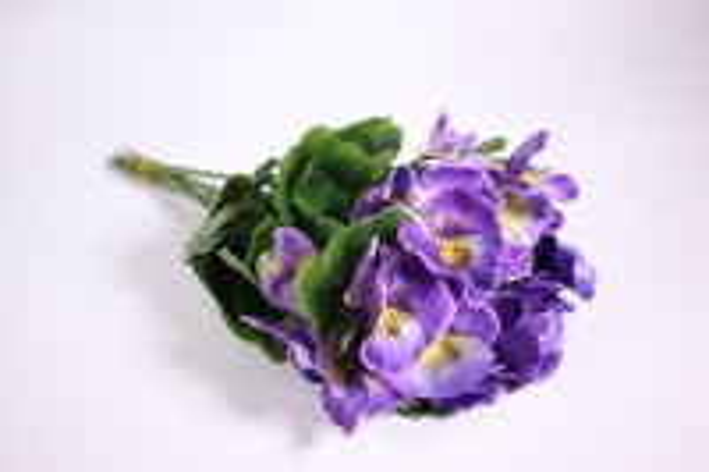 Искусственные растения - Виола фиолетовая (12шт в уп) SUN417