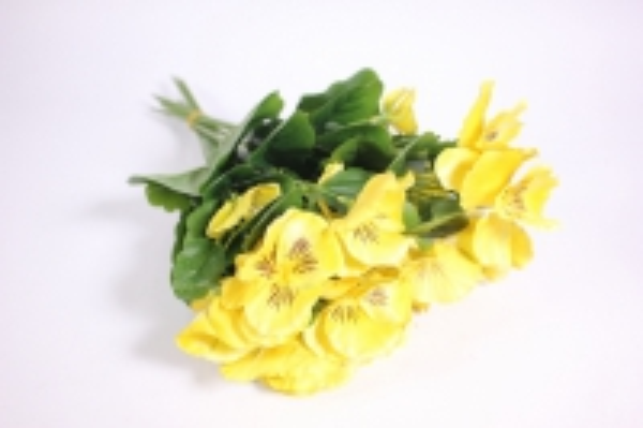 искусственные растения - виола 30см желтая (12шт в уп) sun417