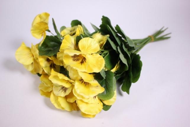 Искусственные растения - Виола желтая (12шт в уп) SUN417