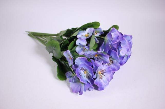 Искусственные растения - Виола голубая (12шт в уп) SUN417