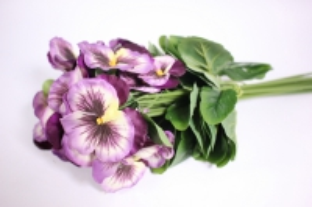 Искусственные растения - Виола сиреневая (12шт в уп) SUN417