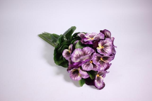 искусственные растения - виола 30см сиреневая (12шт в уп) sun417
