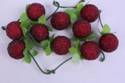 Искусственные ягоды - Малина сахарная 2см (10шт)
