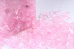 Камушки стеклянные в тубе (500гр) (5-8мм) розовый KR-46961(И)