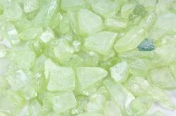Камушки стеклянные в тубе (500гр) (5-8мм) зелёный KR-46958(И)