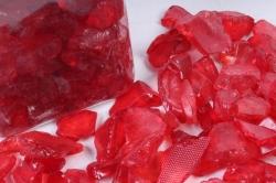 Камушки стеклянные в тубе (500гр) (12-см) красный KR-46966(И)