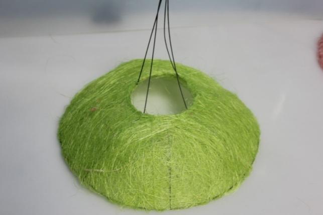 Каркас для букета Конус гладкий сизаль 30см - Салатовый