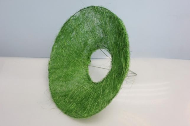 Каркас для букета Конус гладкий сизаль 30см - Зеленый