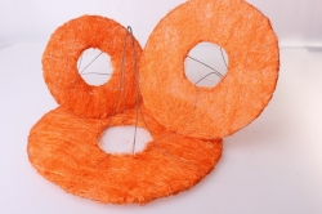 Каркас для букета набор сизаль гладкий плоский (3шт в уп) CS12K004 S3 - Оранжевый