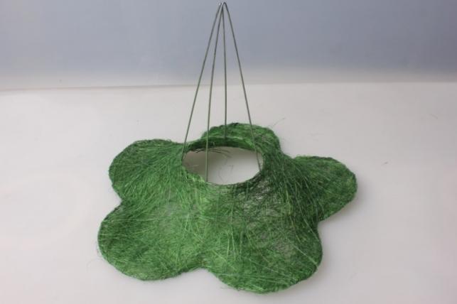 Каркас для букета РОМАШКА сизаль Зеленый 25см