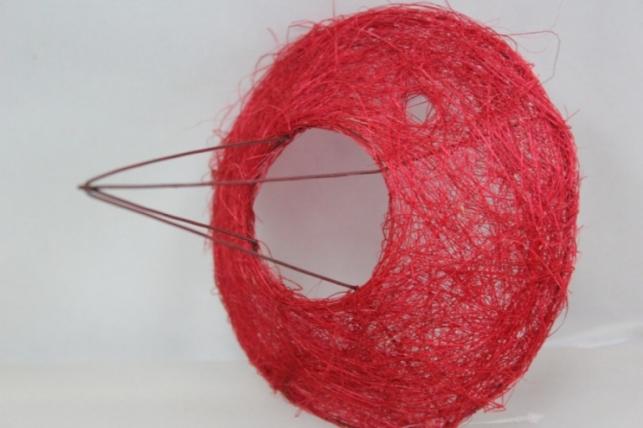 Каркас для букета Сизаль одиночный 15см Красный