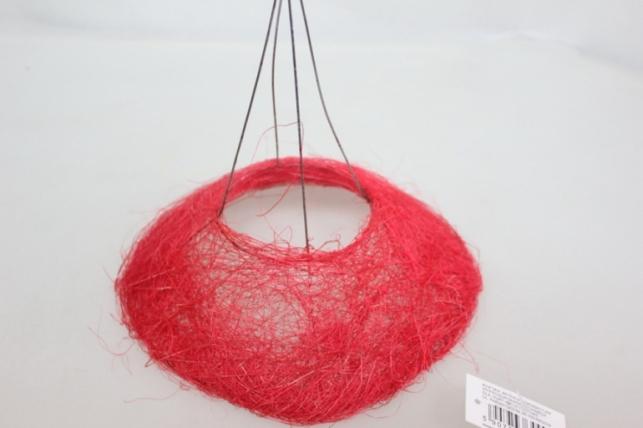 Каркас для букета Сизаль одиночный  20см Красный