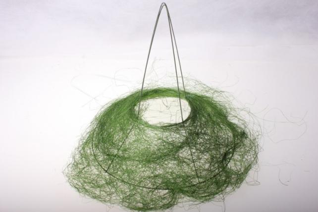 """Каркас для букета """"Сизаль одиночный"""" пушистый d=30см в асс. Зелёный"""