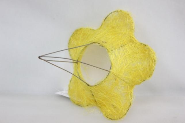 Каркас для букета Сизалевый  ЦВЕТОК 15см малый Желтый