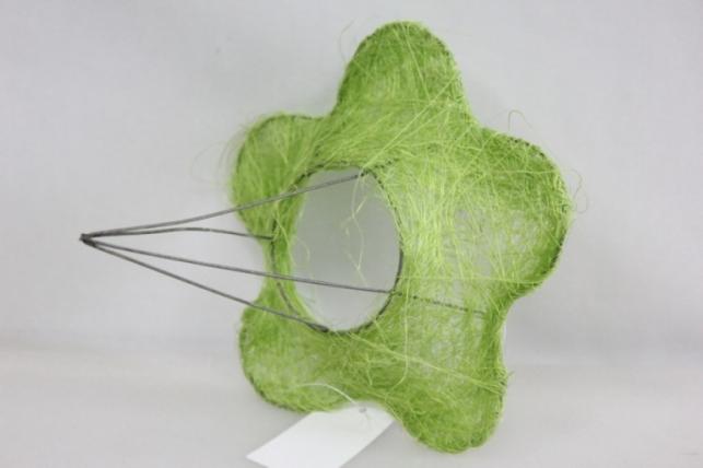 Каркас для букета Сизалевый  ЦВЕТОК 15см малый Салатовый