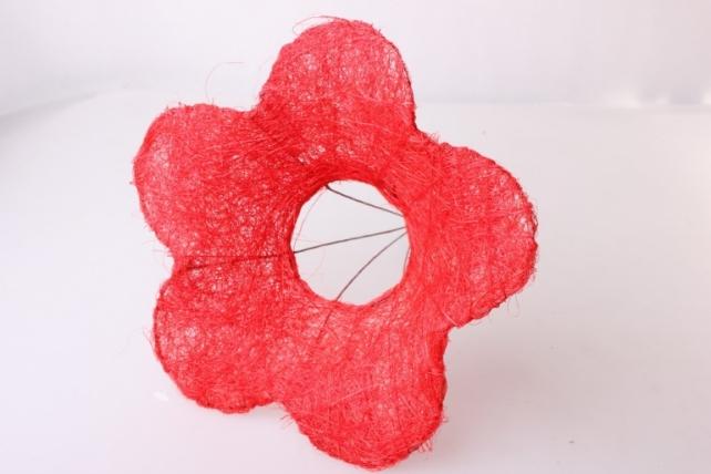 Каркас для букета Сизалевый  ЦВЕТОК  20см  Красный