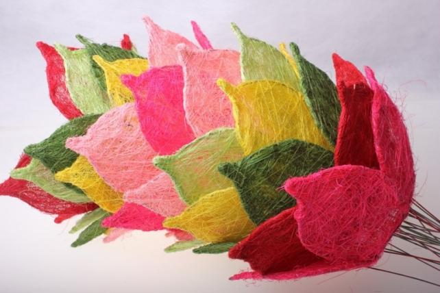 """каркас для букетов аксессуары для флористов - каркас """"сизалевый цветок"""" - зелёный 1275"""