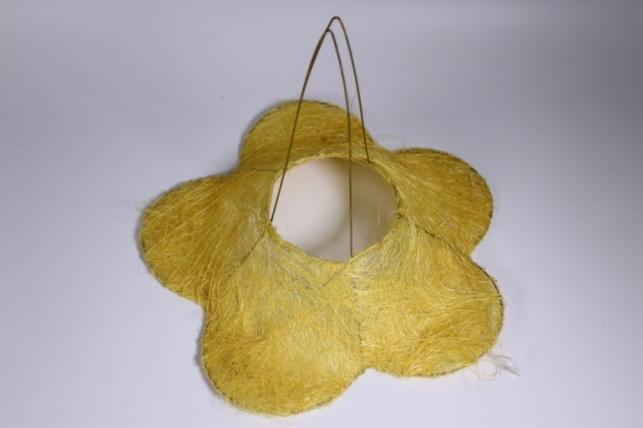 Каркас для цветов РОМАШКА сизаль Желтый 30см