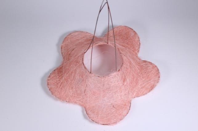 Каркас для цветов РОМАШКА сизаль Светло-розовый 30см