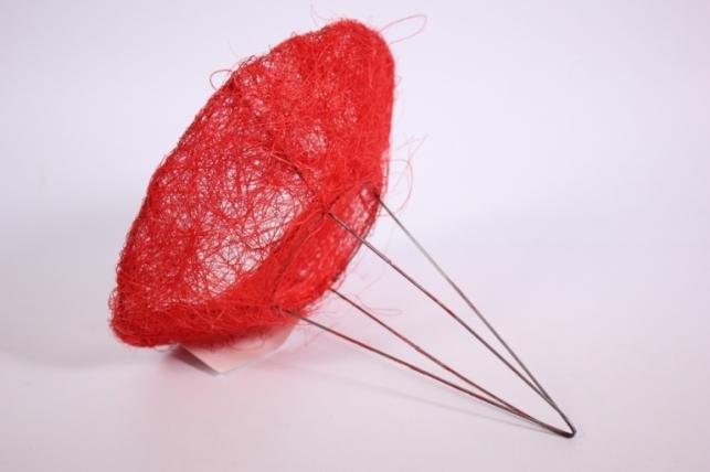 """каркас для цветов  """"сизаль одиночный """" 15см красный"""
