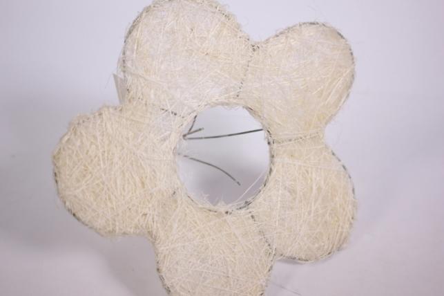 """каркас для цветов  """"сизалевый  цветок 15см"""" малый  белый"""