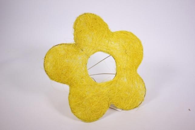 """Каркас для цветов  """"Сизалевый  ЦВЕТОК 20см"""" средний  Желтый"""