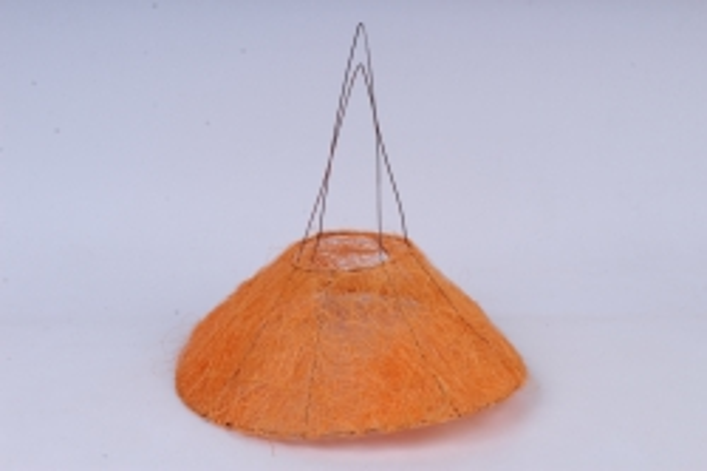 Каркас Конус гладкий сизаль  30см Оранжевый