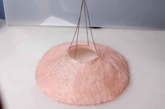 Каркас Конус гладкий сизаль 30см Светло-Розовый