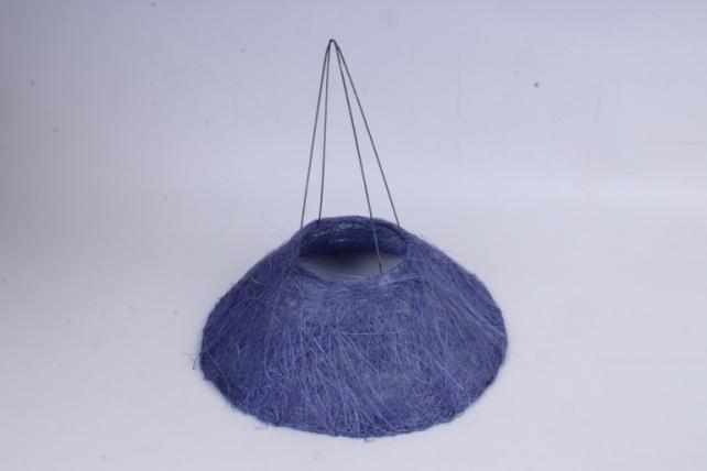 Каркас Конус гладкий сизаль 25см Фиолетовый