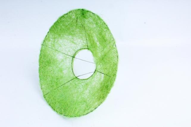 Каркас Конус гладкий сизаль 25см Зеленое яболоко