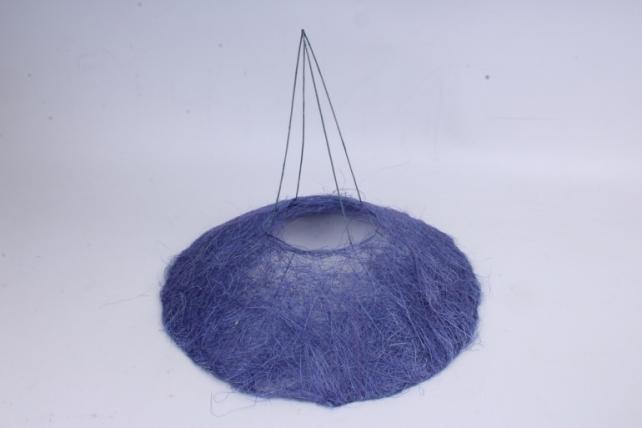 Каркас Конус гладкий сизаль  30см Фиолетовый