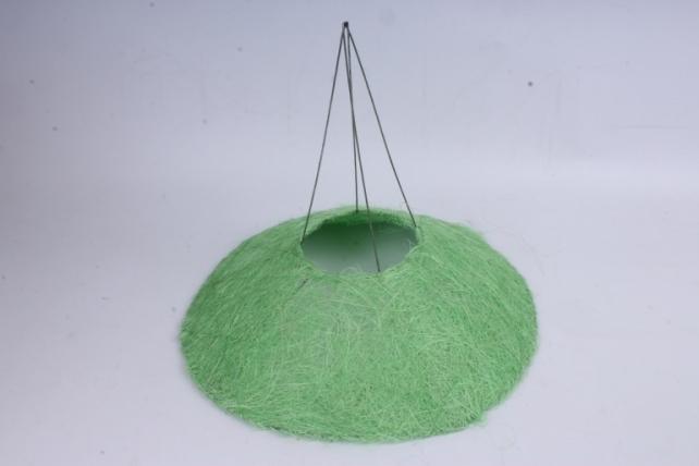 Каркас Конус гладкий сизаль  30см Зеленое яблоко