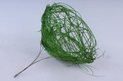 """каркас """"ротанг одиночный """"  30см зеленый"""