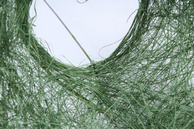 """Каркас """"Сизаль гладкий одиночный """"  Зеленый - Размеры: d=14,5 h=16 см."""