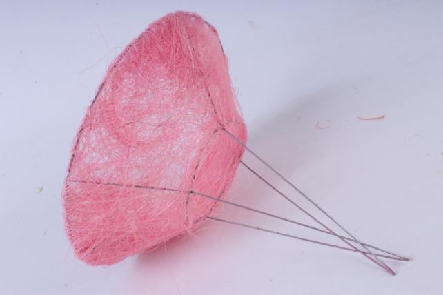 """каркас """"сизаль гладкий одиночный """" 20см розовый"""