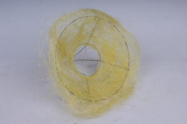 """Каркас """"Сизаль одиночный"""" пушистый  20 см Жёлтый"""