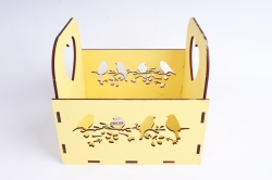 """Кашпо (А) """"птицы"""" (Цвет Желтый)Я047"""