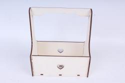 Кашпо (А) Ящик для цветов №3  (Цвет Белый )Я003б