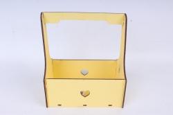 Кашпо (А) Ящик для цветов №3  (Цвет Желтый )Я003ж