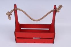Кашпо (А) Ящик для цветов №4  (Цвет Красный ) Я004к